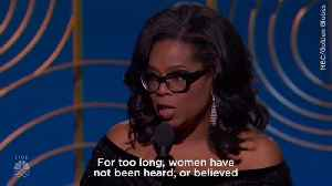 Oprah gives incredibly powerful speech at Golden Globes [Video]