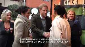 Meghan Markle And Prince Harry Visit Brixton For Second Official Engagement Together [Video]