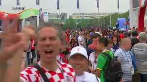News video: Fans arrive at Luzhniki Stadium for World Cup final
