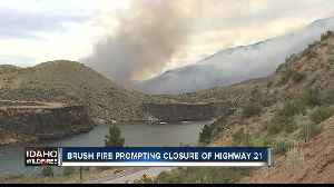 News video: Highway 21 closed north of Lucky Peak due to brush fire