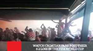 Watch Croatian Fans Post Their 4-2 Loss In The FIFA World Cup [Video]