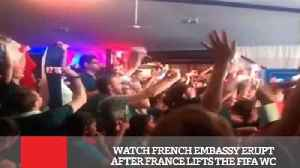 Watch French Embassy Erupt After France Lifts The FIFA WC [Video]