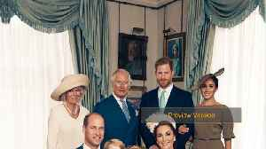 Prince George Grins In Prince Louis' Christening Portraits [Video]