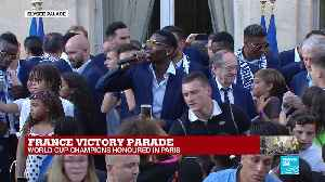 France victory parade: Paul Pogba takes the mic at the Élysée Palace [Video]