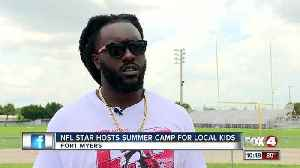 NFL star gives back to local community [Video]