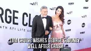 Tom Cruise wishes George Clooney well after crash [Video]