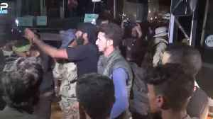 Rebel Convoy Arrives in Hama After Travelling North From Daraa Province [Video]