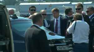 News video: Putin lands in Helsinki for summit with Trump