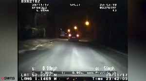 Teenage yob driver crashes after 80mph in chase [Video]