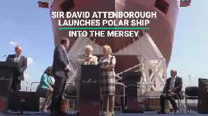 Sir David Attenborough Launches Polar Ship Into The Mersey [Video]