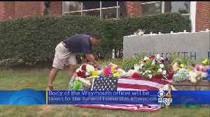 Memorial Grows Outside Weymouth Police Department For Fallen Officer [Video]