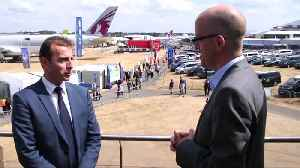 At jetmaker's party, no escaping Brexit [Video]