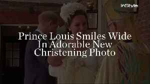 Prince Louis Smiles Wide In Adorable New Christening Photo [Video]