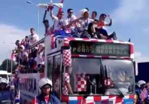 Fans Greet Croatia World Cup Team as They Arrive Home to Celebrations [Video]