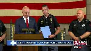Governor honors NSP trooper in medication relay [Video]