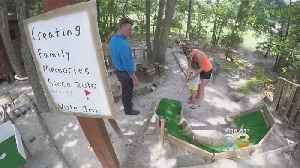 Medford Lakes Teen Builds Mini-Golf Course In Backyard [Video]