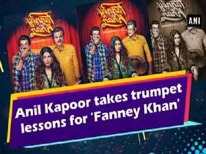 Anil Kapoor takes trumpet lessons for 'Fanney Khan' [Video]