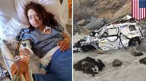Woman survives for a week after car plunges off cliff - TomoNews [Video]