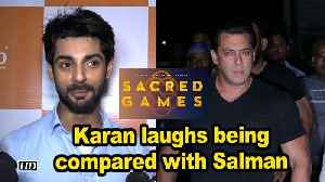 "Karan laughs off being compared with Salman in ""Sacred Games"" [Video]"