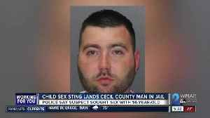 Undercover account leads to arrest of Cecil Co. man for sexual solicitation of 14-year-old [Video]