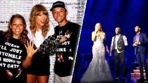 Taylor Swift and Mariah Carey Help 2 Couples Get Engaged [Video]