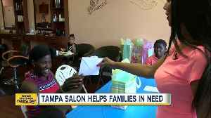Tampa beauty salon owner helping moms, kids in need with haircuts and back-to-school supplies [Video]