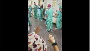 Caring Hospital Nurses And Doctors Pray For Staff And Patients [Video]