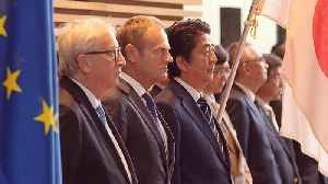 Leaders say EU-Japan pact protects workers [Video]