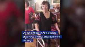 86-year-old Grandma Welcomed Home After Grueling Cancer Treatment [Video]