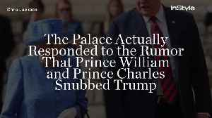 The Palace Actually Responded to the Rumor That Prince William and Prince Charles Snubbed Trump [Video]