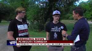 Teen boy in critical condition after falling from bridge into water at Hines Park [Video]