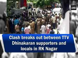 Clash breaks out between TTV Dhinakaran supporters and locals in RK Nagar [Video]