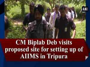 CM Biplab Deb visits proposed site for setting up of AIIMS in Tripura [Video]