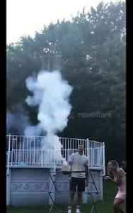 Gender reveal fireworks fail sends partygoers screaming and running for cover [Video]