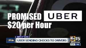 Uber sending checks to drivers after promising $20 an hour pay [Video]