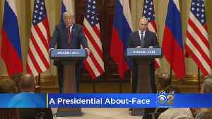 News video: Trump Claims He Misspoke About Russian Meddling In Putin Press Conference