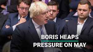 Johnson Uses Resignation Speech To Heap Pressure On May [Video]