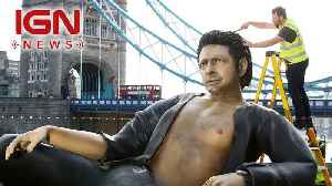 There's a 25-Foot Tall Jeff Goldblum Statue in London [Video]