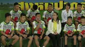 First public appearance for rescued Thai boys [Video]