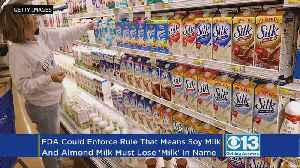 Soy 'Milk' Makers May Need To Find Alternative Description [Video]