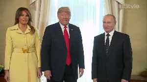 Right Now: Melania Trump Actually Looked Terrified Following Her Handshake With Putin [Video]