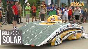 Solar-powered vehicles take off on 1,700-mile race along path of Oregon Trail [Video]