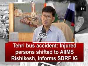 Tehri bus accident: Injured persons shifted to AIIMS Rishikesh, informs SDRF IG [Video]