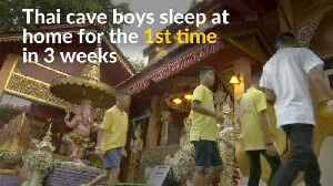 Thailand's cave boys pray at temple after waking up at home for first time in weeks [Video]