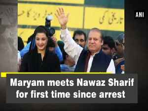 Maryam meets Nawaz Sharif for first time since arrest [Video]