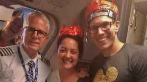 Southwest Airlines Crew Holds In-Flight Wedding Celebration for Newlyweds [Video]