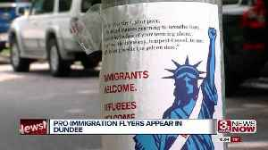 Pro-immigration flyers appear in Dundee [Video]