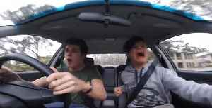 Guy Pulls a Car Crash Prank On Younger Brother [Video]