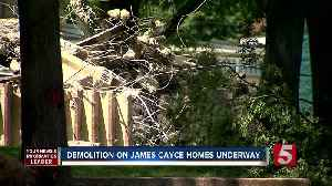 Demolition On James Cayce Homes Underway - On The Rise [Video]