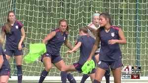 US Women's U-17 World Cup team training in KCK [Video]